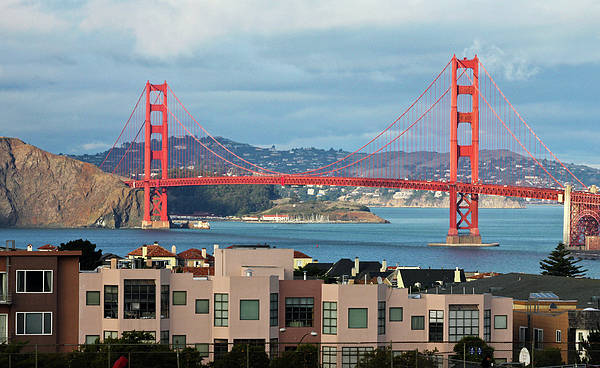 Horizontal Print featuring the photograph Golden Gate by Stickney Design