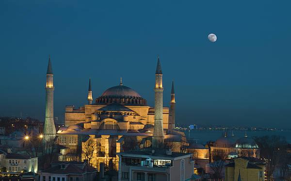 Horizontal Art Print featuring the photograph Hagia Sophia Museum by Ayhan Altun