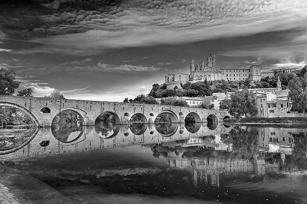 Horizontal Print featuring the photograph Beziers Cathedral by Photograph by Paul Atkinson