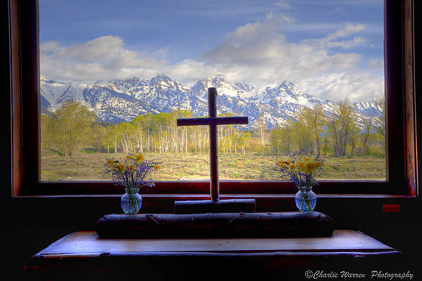Chapel Art Print featuring the photograph Chapel With A View by Charles Warren