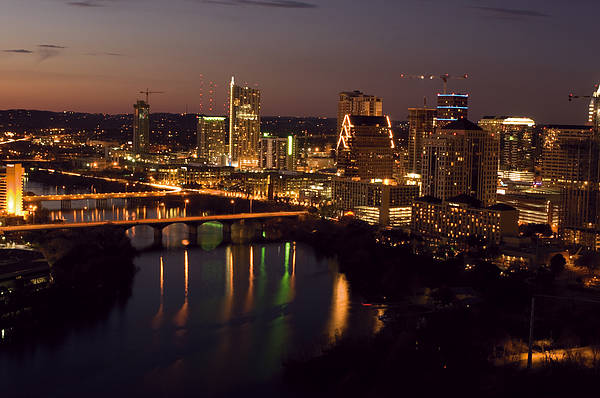 Austin Art Print featuring the photograph City Of Austin At Dusk by David Thompson
