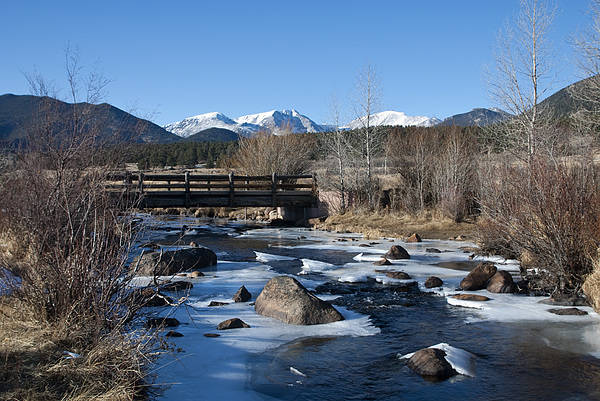 Water Art Print featuring the photograph Mountain Creek In October by Margaret Fortunato