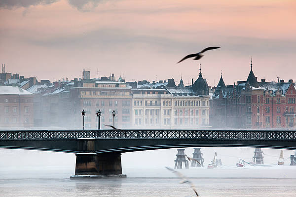 Horizontal Print featuring the photograph Skeppsholmsbron, Stockholm by Hannes Runelöf