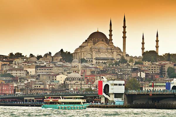 Horizontal Art Print featuring the photograph View Of Istanbul by (C) Thanachai Wachiraworakam