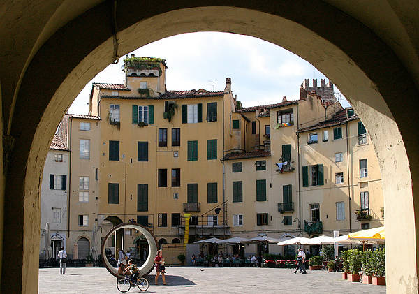 Piazza Art Print featuring the photograph Piazza Antifeatro Lucca by Mathew Lodge