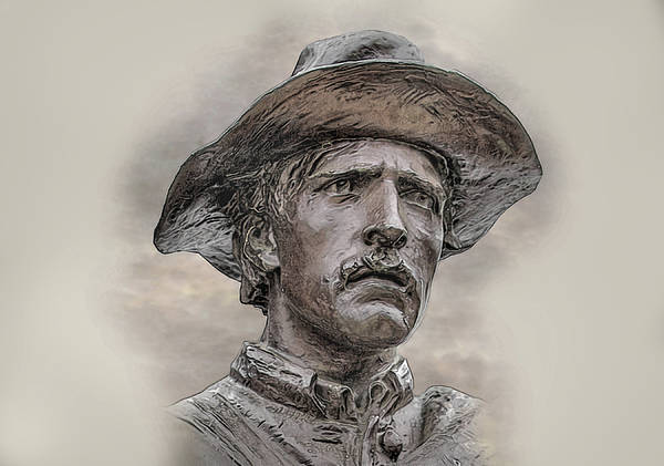 Sons Of The Confederacy Art Print featuring the digital art Son Of The Confederacy Portrait by Randy Steele