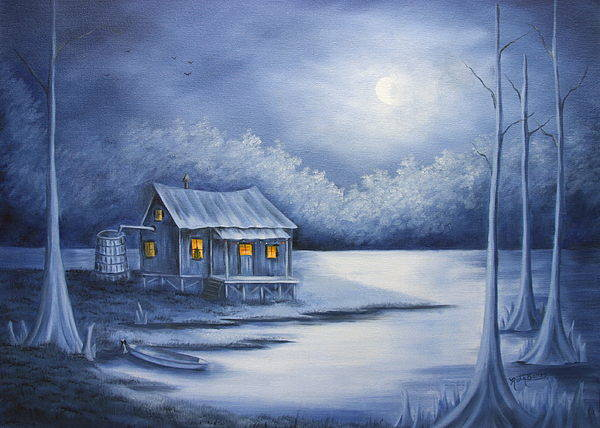 Seascape Art Print featuring the painting Cajun Christmas by Ruth Bares