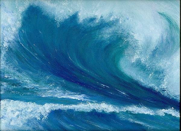 Wave Art Print featuring the painting Winter Wave by Laura Johnson