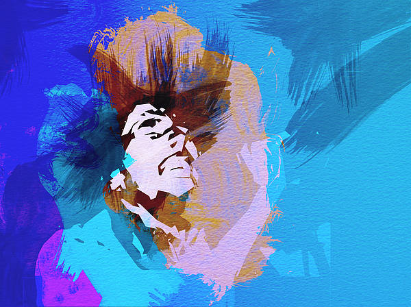 Bob Marley Print featuring the painting Bob Marley 3 by Naxart Studio