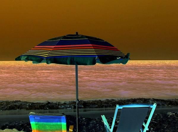 Beach Art Print featuring the digital art Sunset Glow by Kenna Westerman