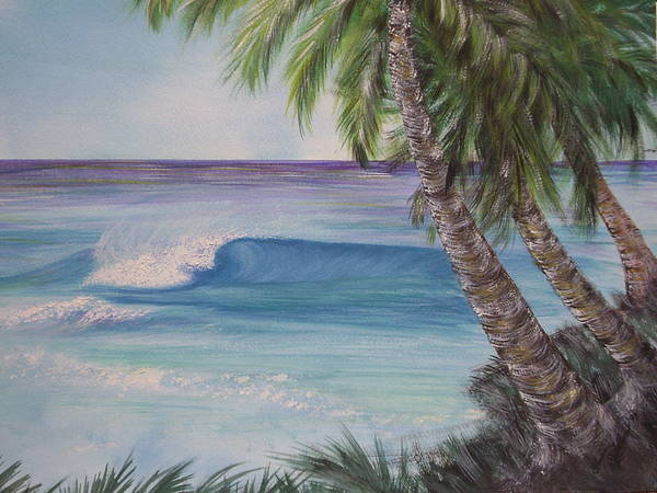 Winter Surf Art Print featuring the painting So Fine by Laura Johnson