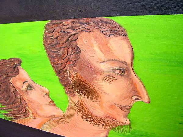 Art Art Print featuring the painting Love - Fragment by Svetlana Vinokurtsev