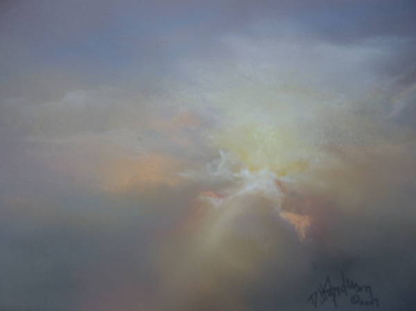 Skyscape Art Print featuring the painting Spoken Softly by Debbie Anderson