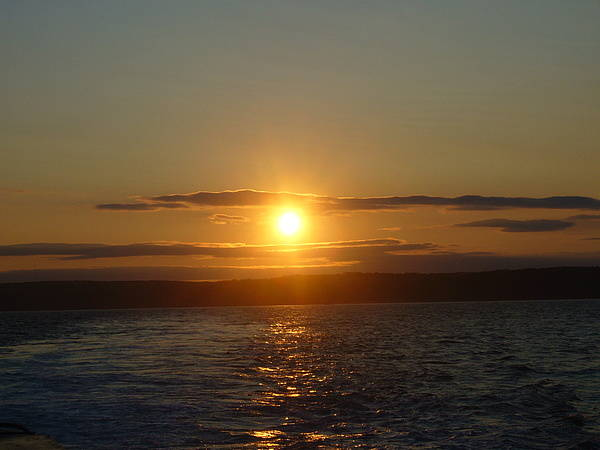 Sunset Art Print featuring the photograph Sunset On The Horizon  1 by Sharon Stacey
