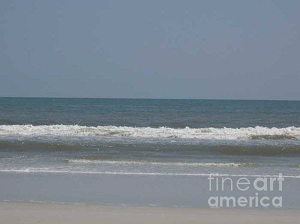 The Beach Near St. Augustine Art Print featuring the photograph Watching The Waves by Barb Montanye Meseroll