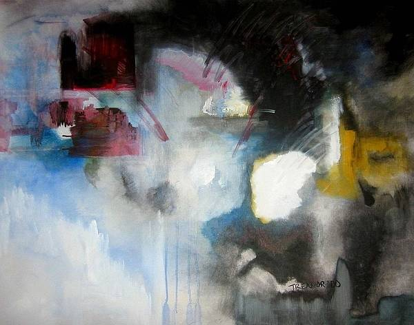 Abstract Art Print featuring the painting Abstract No 5 by Halle Treanor