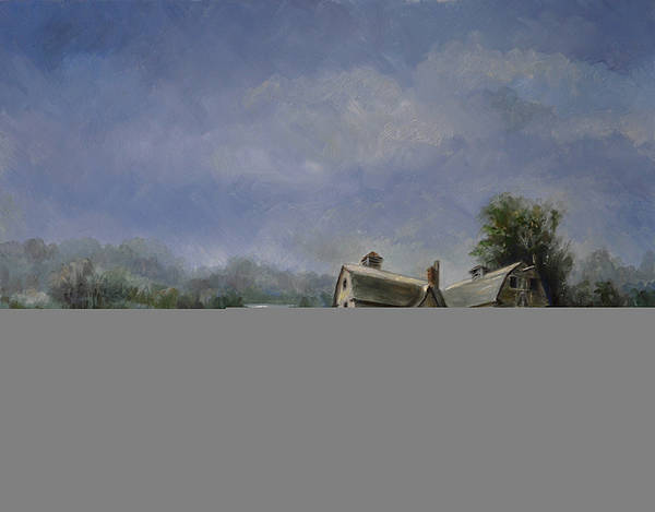 Barn Art Print featuring the painting The Grand Old Lady by Ruth Stromswold
