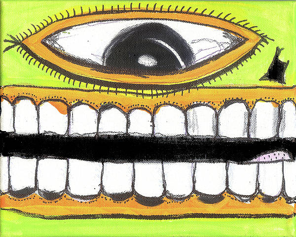 Rwjr Art Print featuring the digital art I Like 2 Smile Ls by Robert Wolverton Jr