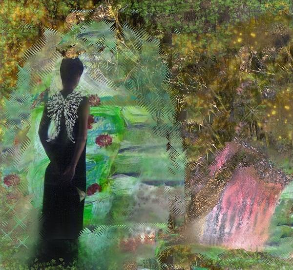 Woman Art Print featuring the painting Good Bye by Michaela Kraemer