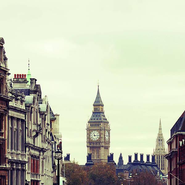 Square Art Print featuring the photograph Big Ben As Seen From Trafalgar Square, London by Image - Natasha Maiolo