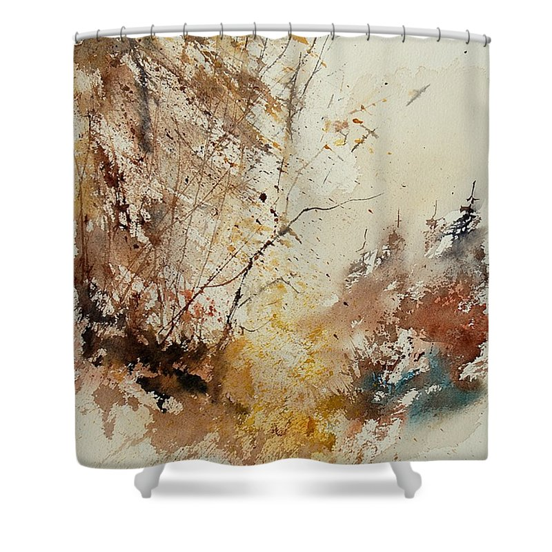 Tree Shower Curtain featuring the painting Watercolor 903012 by Pol Ledent