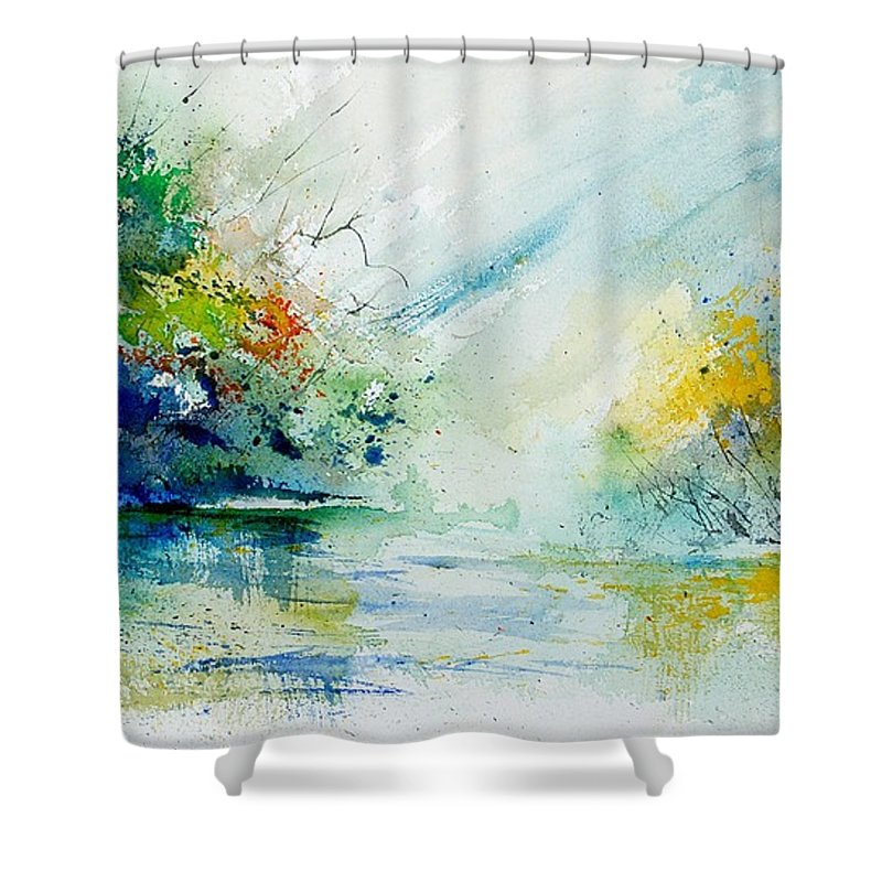 Water Shower Curtain featuring the painting Watercolor 903022 by Pol Ledent