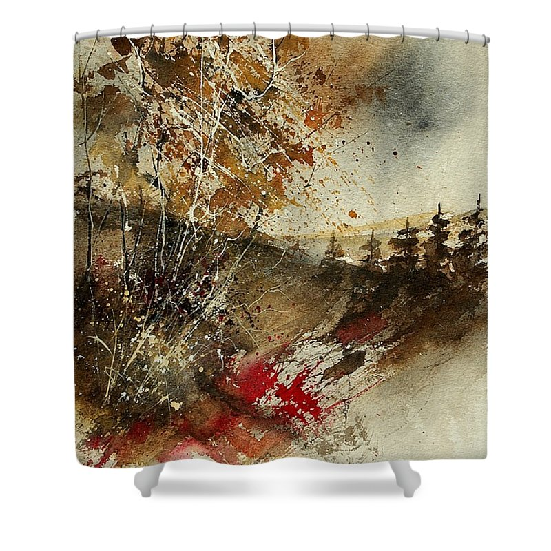 Tree Shower Curtain featuring the painting Watercolor 903052 by Pol Ledent