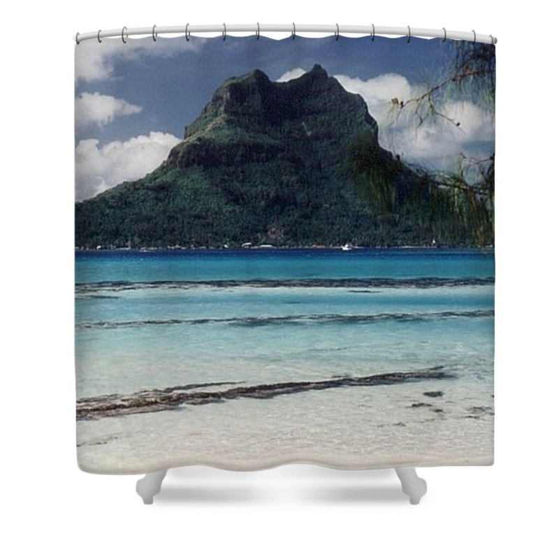 Charity Shower Curtain featuring the photograph Bora Bora by Mary-Lee Sanders