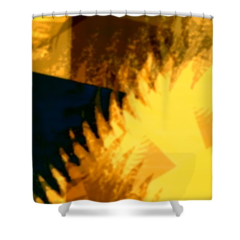 Art Digital Art Shower Curtain featuring the digital art Change - Leaf12 by Alex Porter