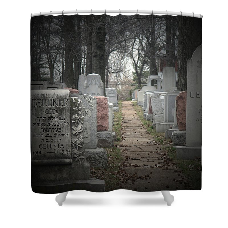 Cemetary Shower Curtain featuring the photograph Closure by Albert Stewart