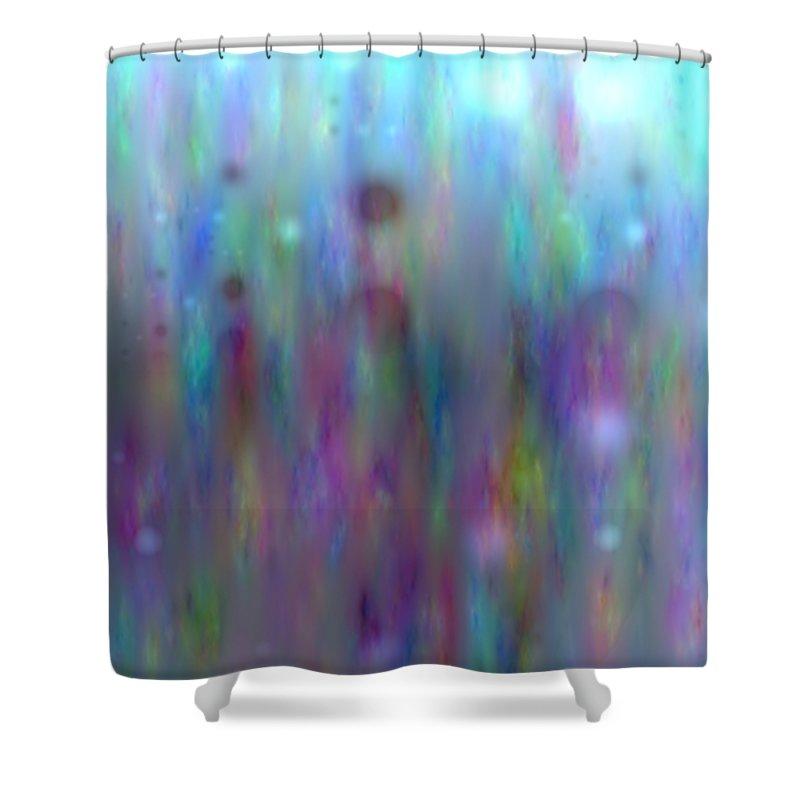 Art Digital Art Shower Curtain featuring the digital art Colour14mlv - Impressions by Alex Porter