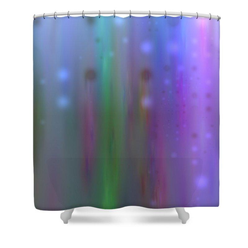 Art Digital Art Shower Curtain featuring the digital art Colour4mlv - Impressions by Alex Porter