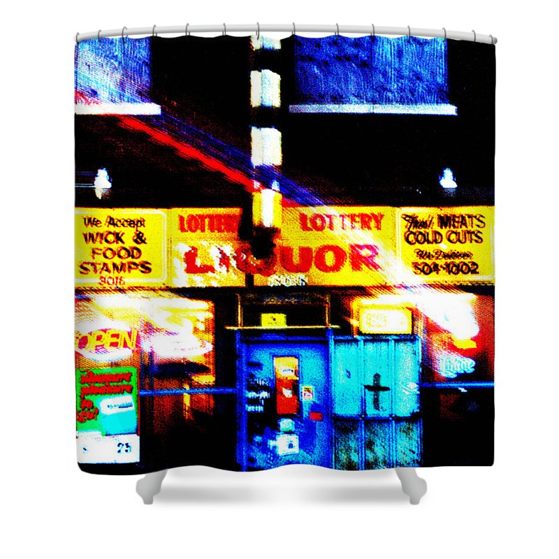 Store Shower Curtain featuring the photograph Corner Store by Albert Stewart