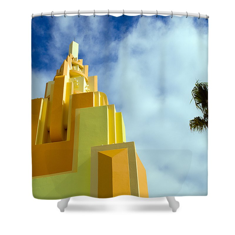 Cocoa; Beach; Florida; Brevard; East; Space; Coast; Ron; Jon; Surf; Shop; Surfing; Surfer; Waves; Br Shower Curtain featuring the photograph Ron Jon Cocoa Beach Florida by Allan Hughes