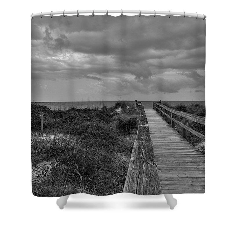 Beach Walk Shower Curtain featuring the photograph Walk To The Beach Alantic Beaches Nc by Tommy Anderson
