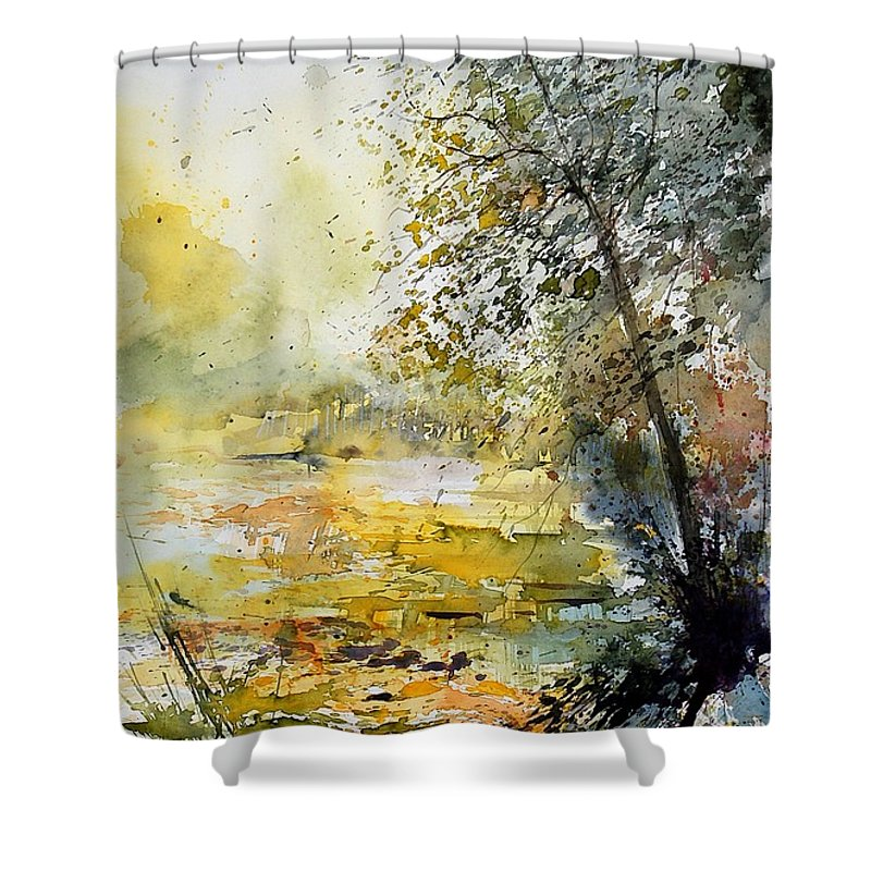 Water Shower Curtain featuring the painting Watercolor 050906 by Pol Ledent