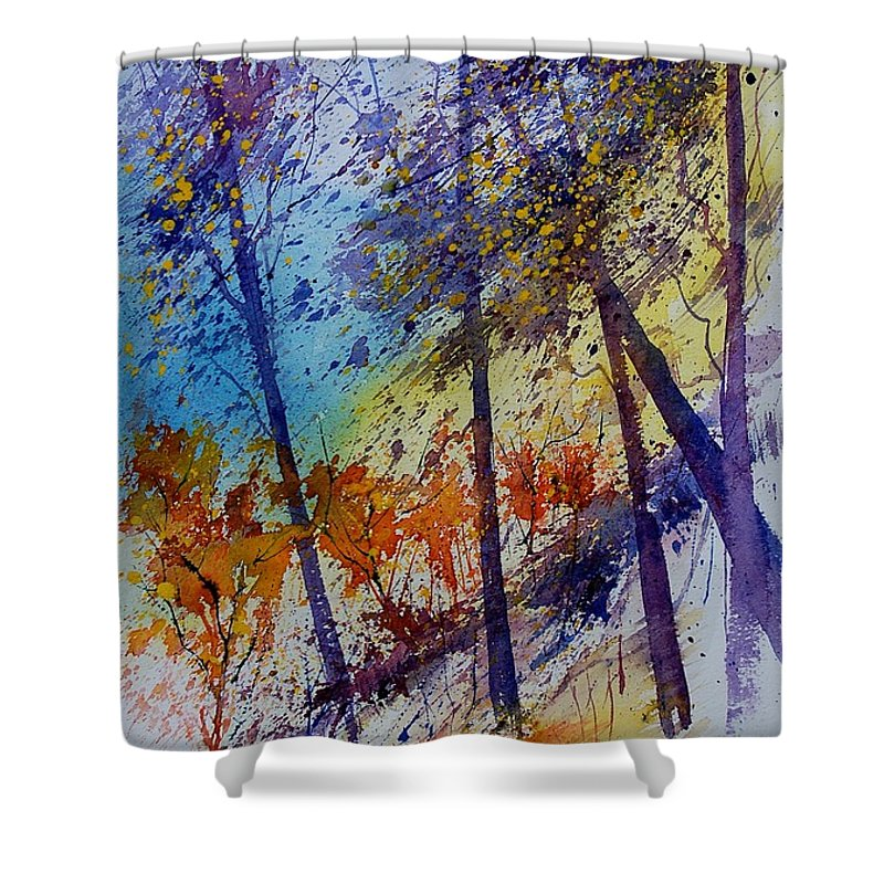 Spring Shower Curtain featuring the painting Watercolor 131108 by Pol Ledent