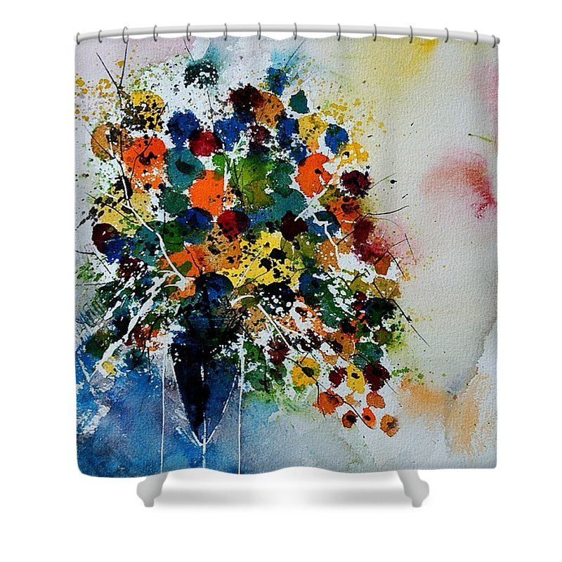 Flowers Shower Curtain featuring the painting Watercolor 220407 by Pol Ledent