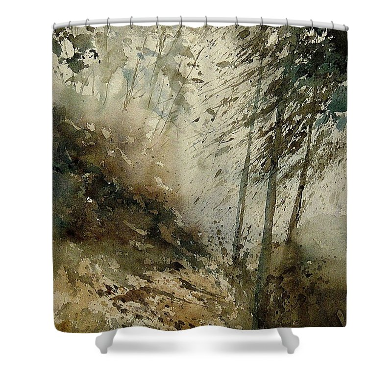 Tree Shower Curtain featuring the painting Watercolor 271005 by Pol Ledent