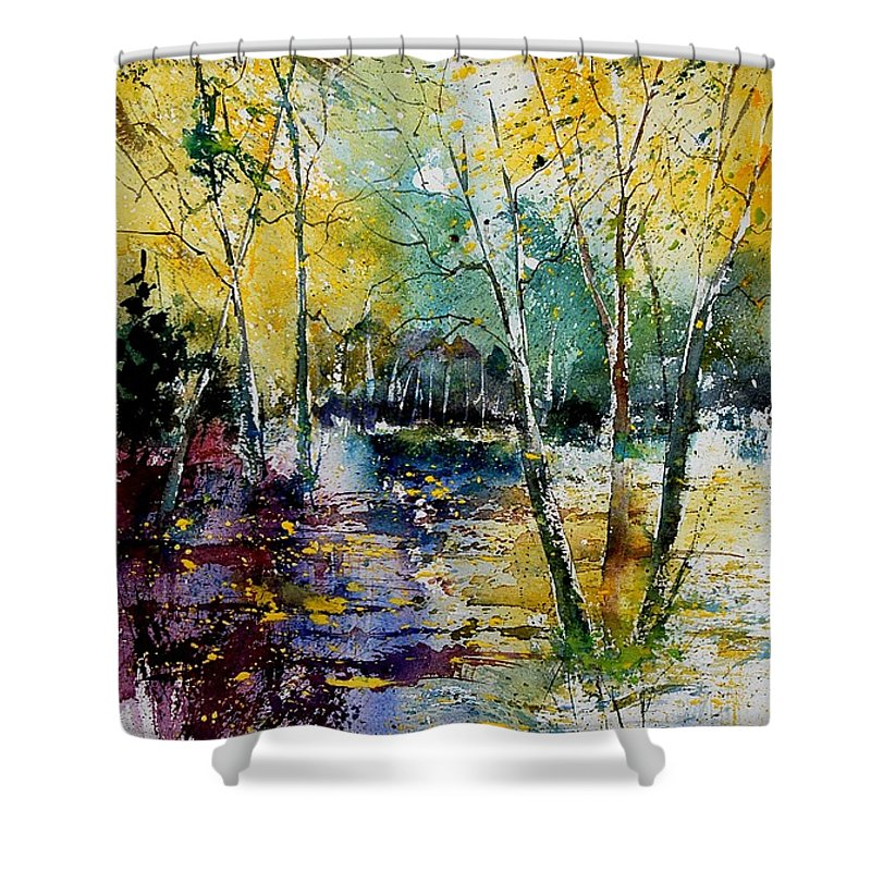 Water Shower Curtain featuring the painting Watercolor 280808 by Pol Ledent