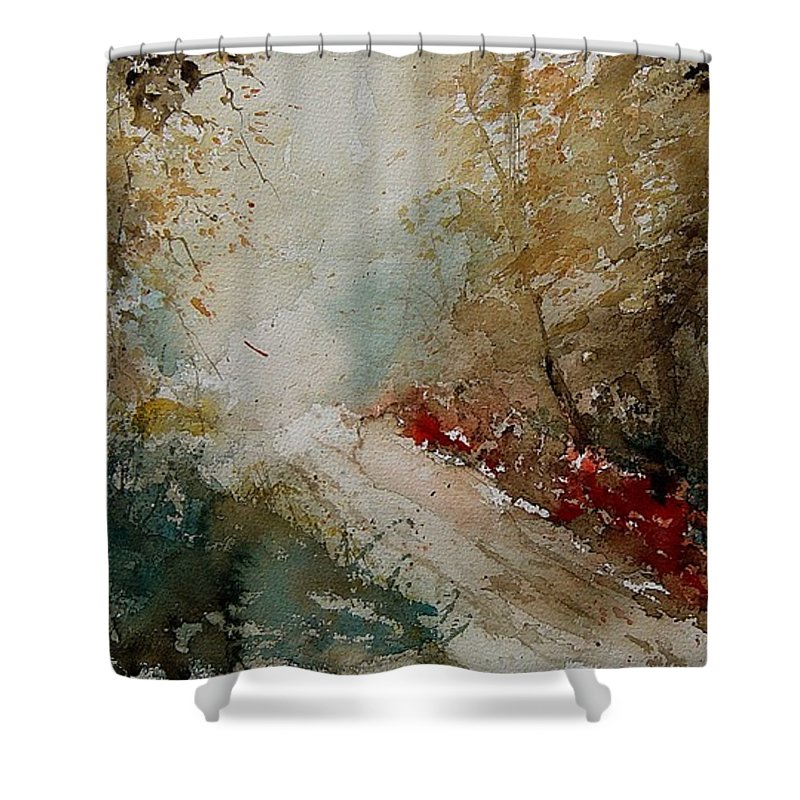 Tree Shower Curtain featuring the painting Watercolor 311005 by Pol Ledent