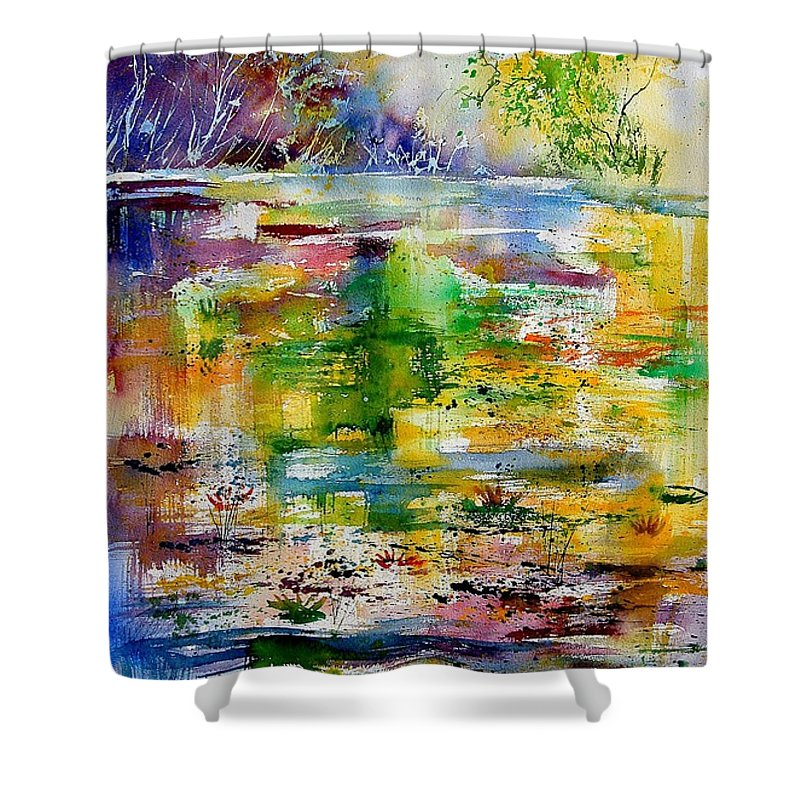 Water Shower Curtain featuring the painting Watercolor 6878 by Pol Ledent