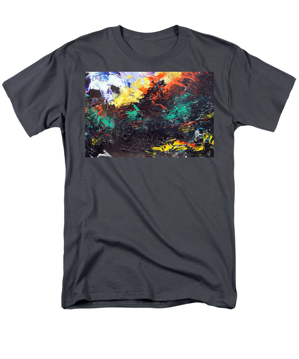 Vision Men's T-Shirt (Regular Fit) featuring the painting Schizophrenia by Sergey Bezhinets