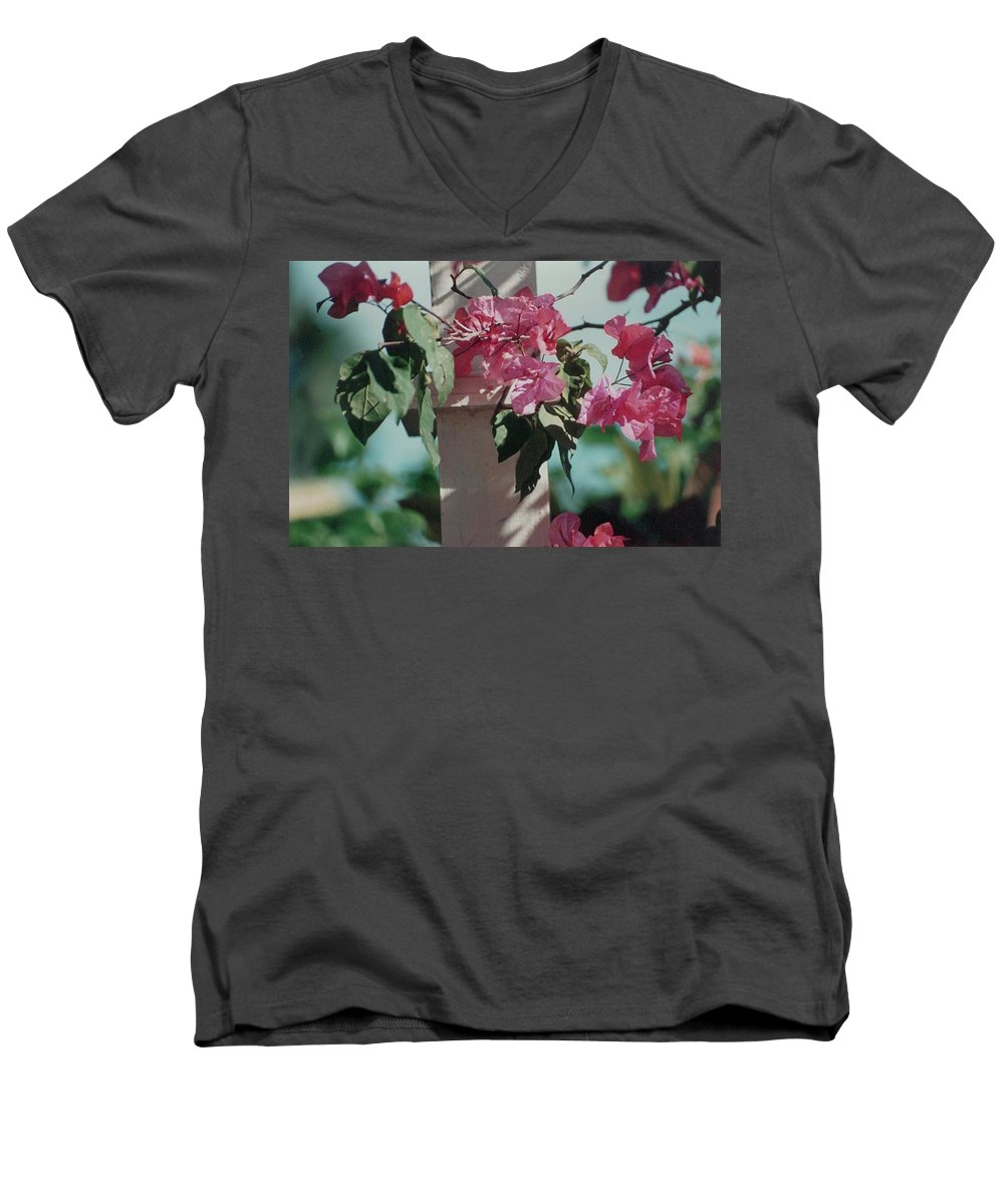 Charity Men's V-Neck T-Shirt featuring the photograph Bouganvillea by Mary-Lee Sanders