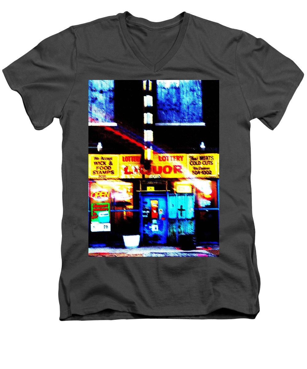 Store Men's V-Neck T-Shirt featuring the photograph Corner Store by Albert Stewart