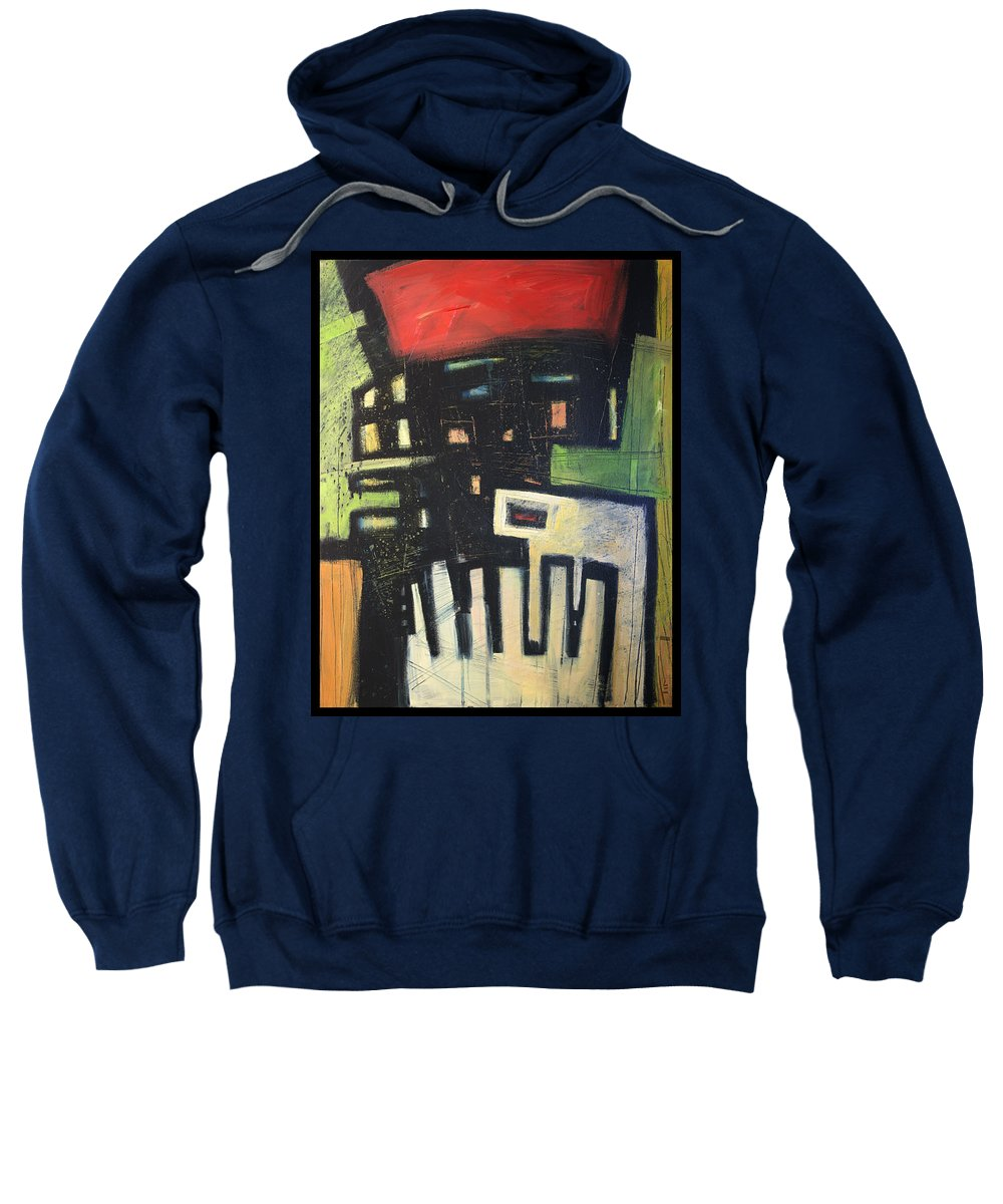 Abstract Sweatshirt featuring the painting D Flat by Tim Nyberg