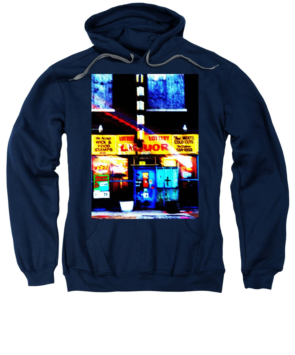 Store Sweatshirt featuring the photograph Corner Store by Albert Stewart