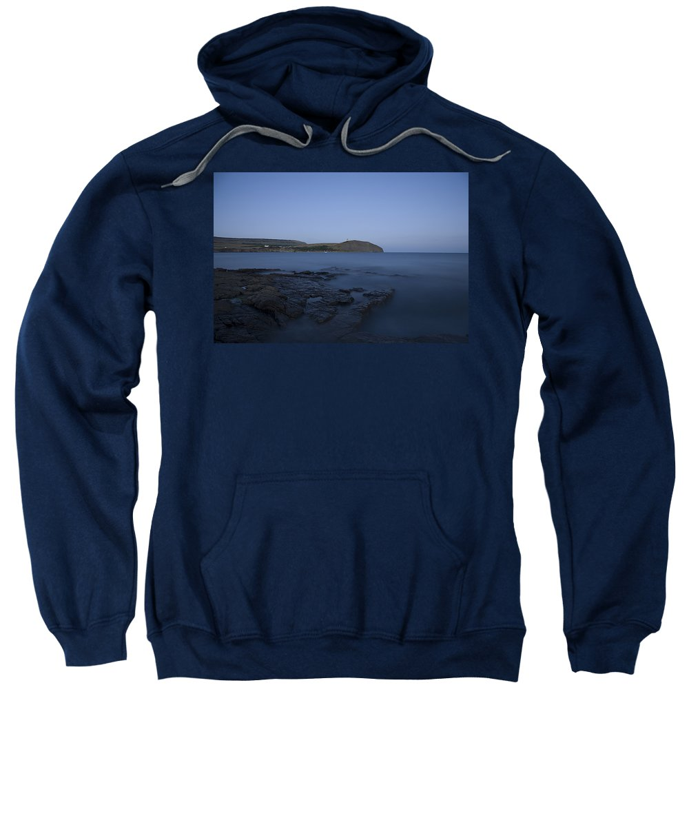 Kimmeridge Sweatshirt featuring the photograph Kimmeridge Bay At Dusk In Dorset by Ian Middleton