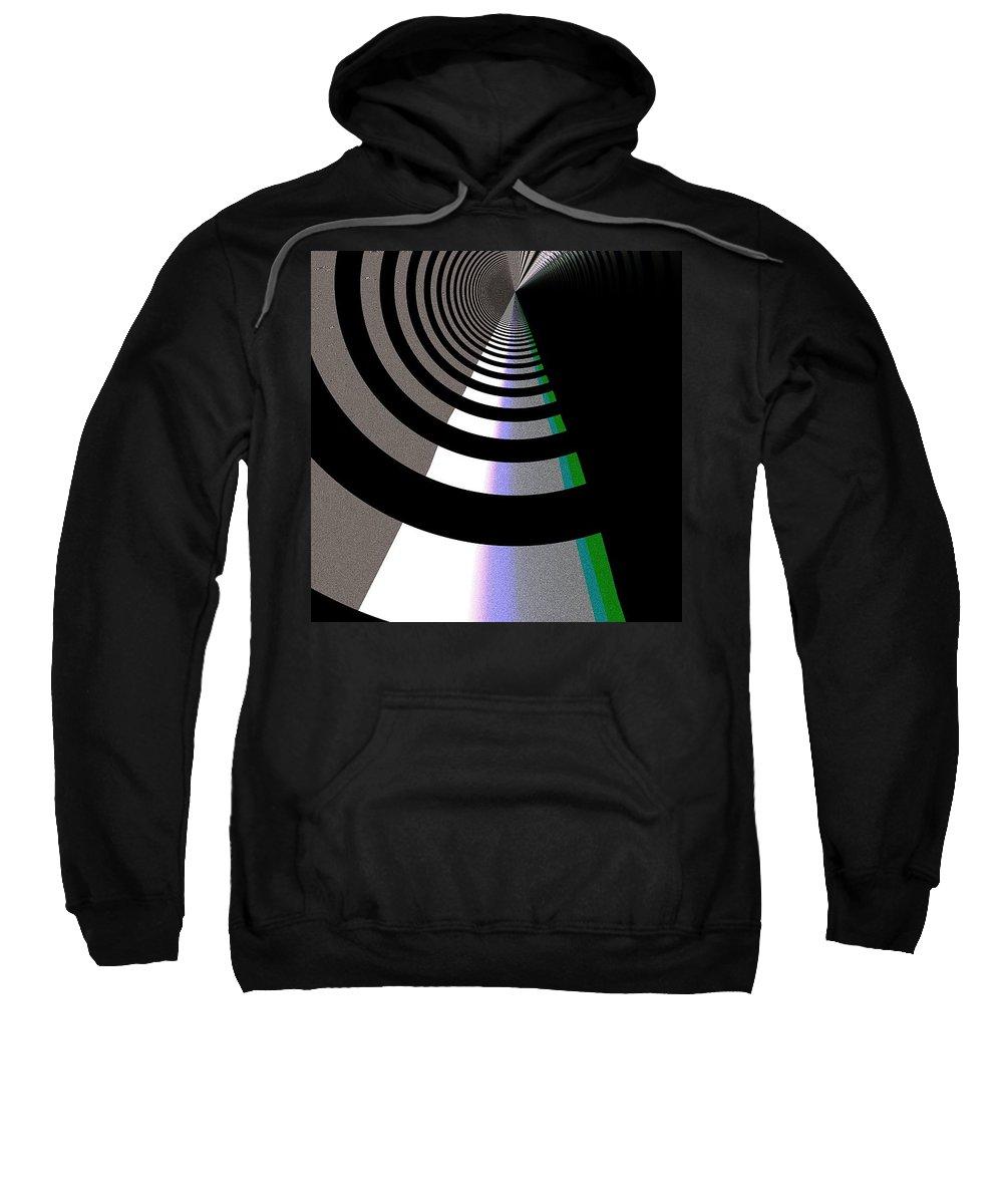 Art Digital Art Sweatshirt featuring the digital art B-wmazezoom5 by Alex Porter