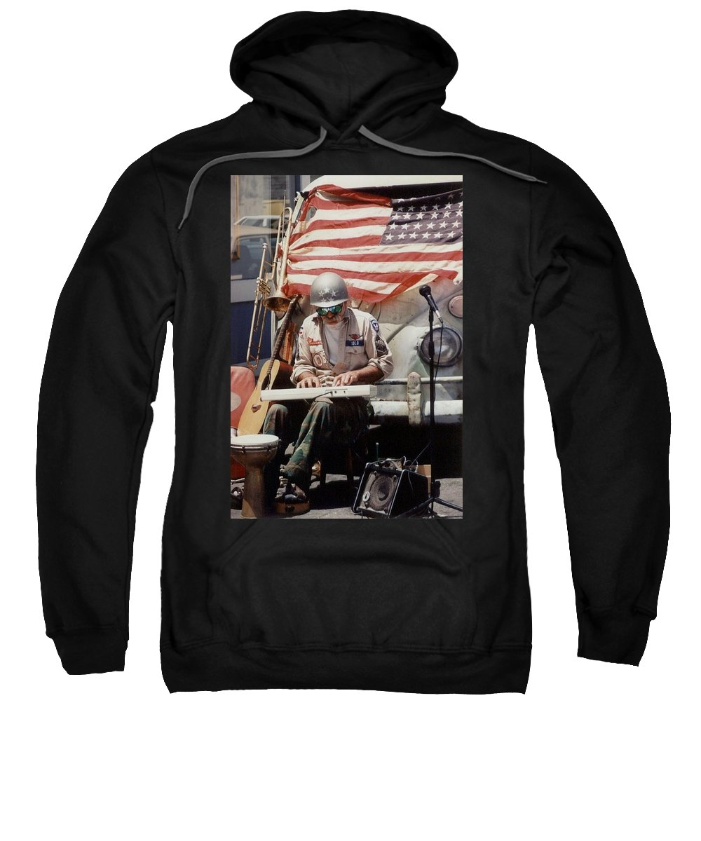 Charity Sweatshirt featuring the photograph Born In The Usa by Mary-Lee Sanders